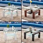 high gloss glass coffee table 2tier 8mm