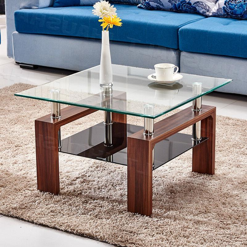 high gloss glass coffee table square table