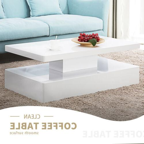 High Modern Coffee Table with Remote Room