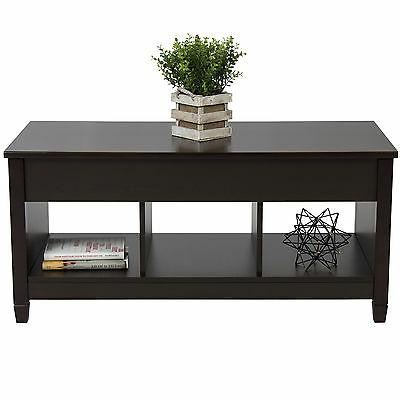 Best Products Lift Top Table Modern W/ Hidden Compartment
