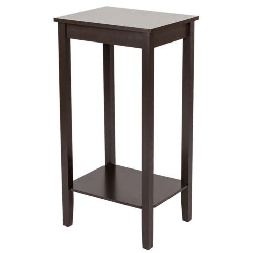 Wood Tall End Table Sofa Couch Side Coffee Table Simple Mode
