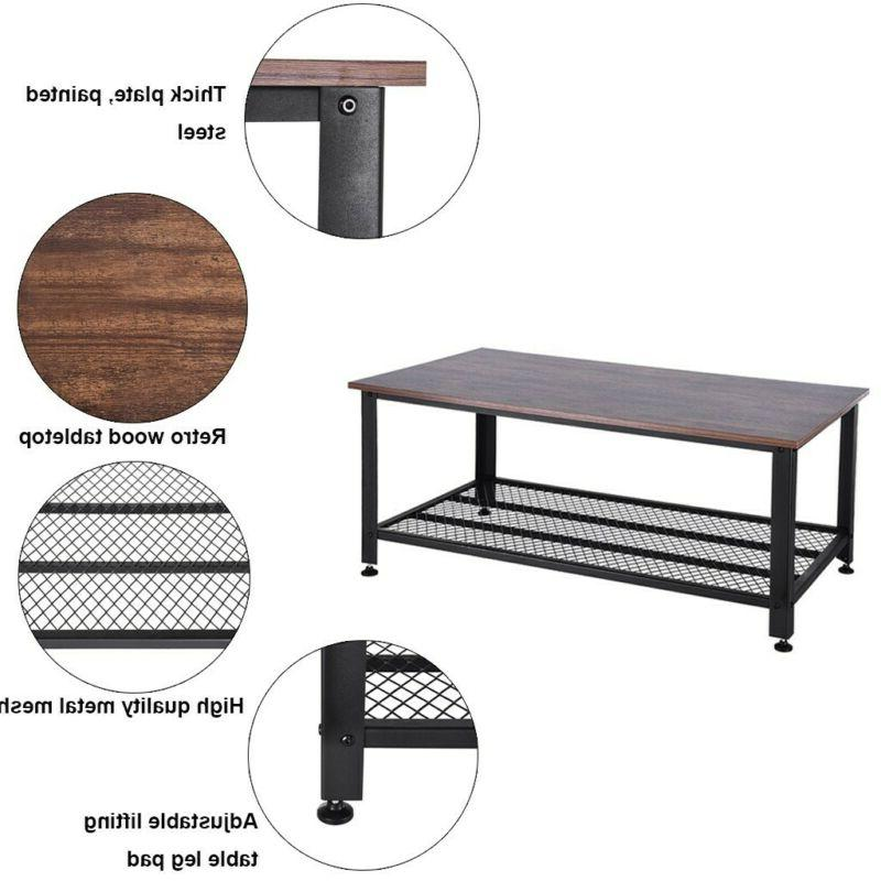 Industrial Table with Room Wood Rustic