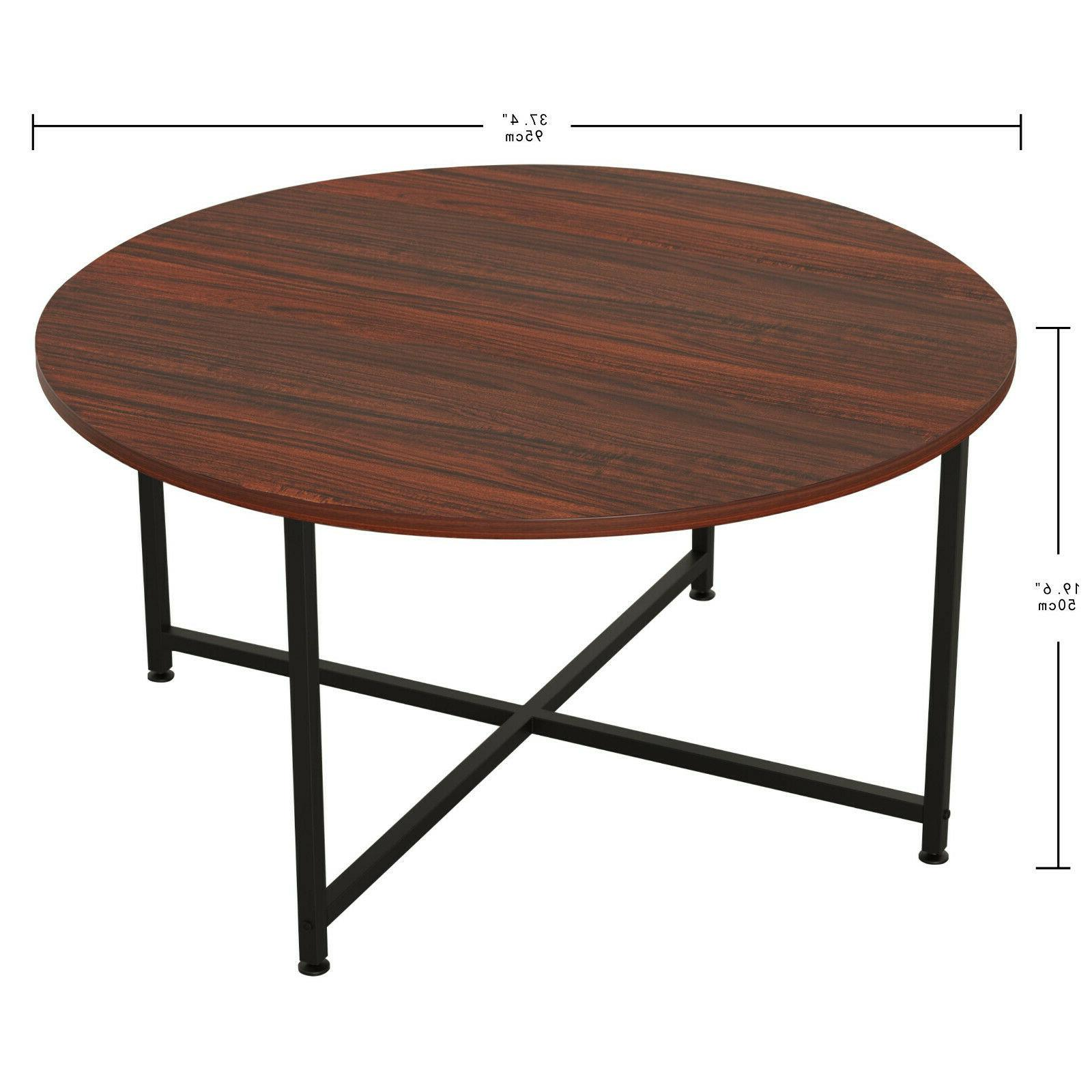 IRONCK for Living Table with Storage Shelf