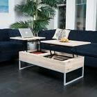 International Concept Unfinished Mission Coffee Table with L