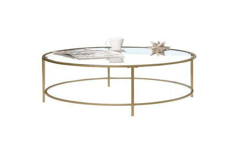 international lux round coffee table glass surface
