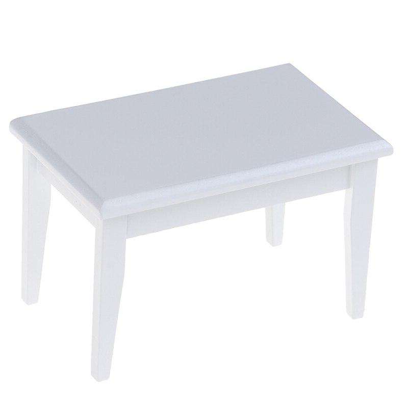 Kid Simulation Toy 1/12 Dollhouse Miniature White <font><b>Table</b></font>