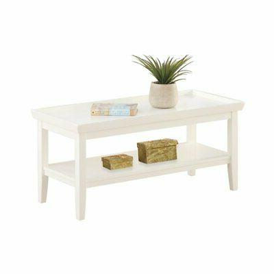 Convenience Concepts Ledgewood Coffee Table, White - 501082W