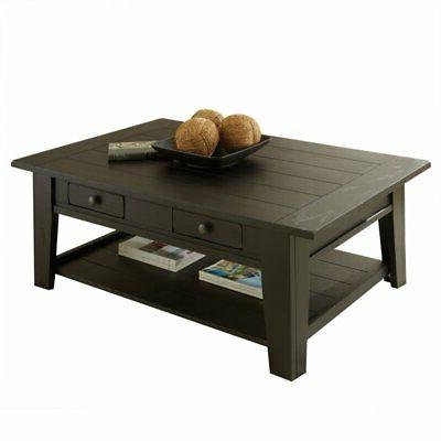 Steve Silver Liberty Cocktail Table, Antique Black LY600CB