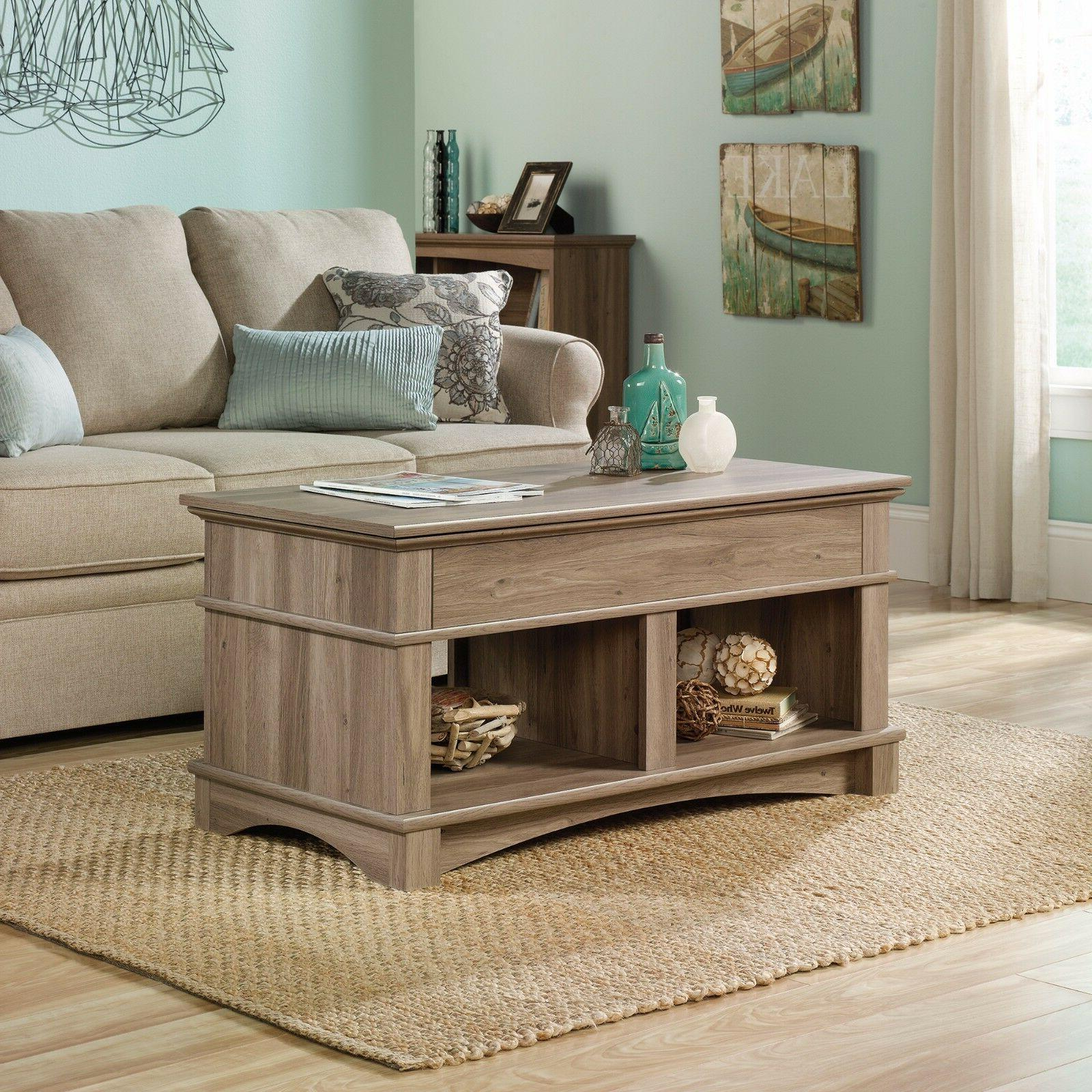 Lift Top Coffee Table - Salt Oak Finish - Harbor View collec