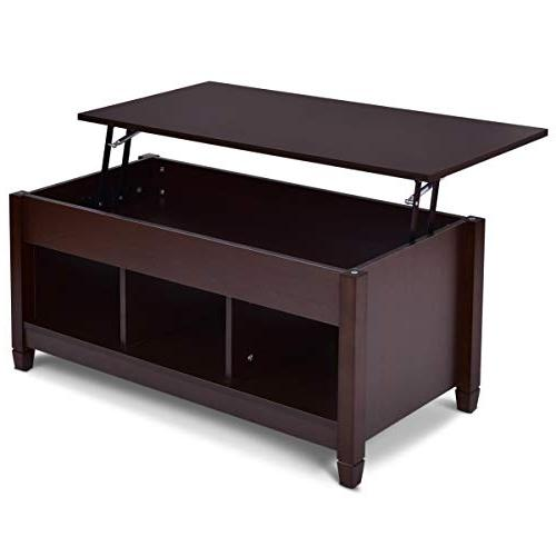 Tangkula Coffee Top Home Room Storage Coffee Compartment Lift Tabletop Furniture