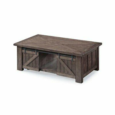 lift top coffee table in weathered charcoal