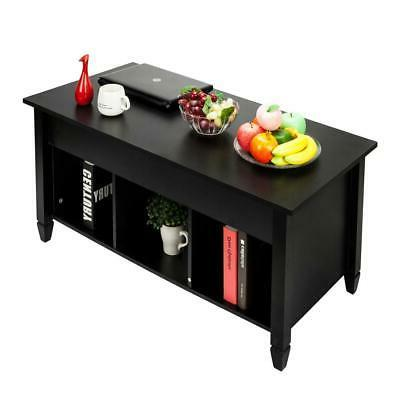 Lift Top Table Modern Furniture Storage Compartment