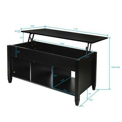 Lift Top Coffee Table Modern Furniture Compartment &