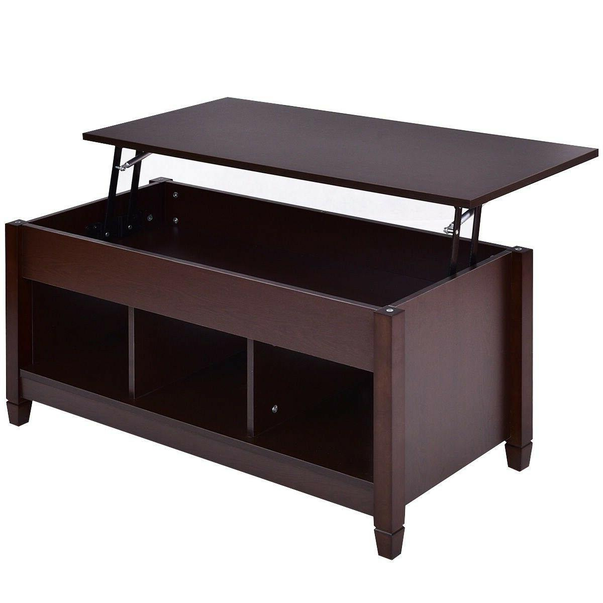 Tangkula Lift Top Coffee Table Modern Living Room Furniture