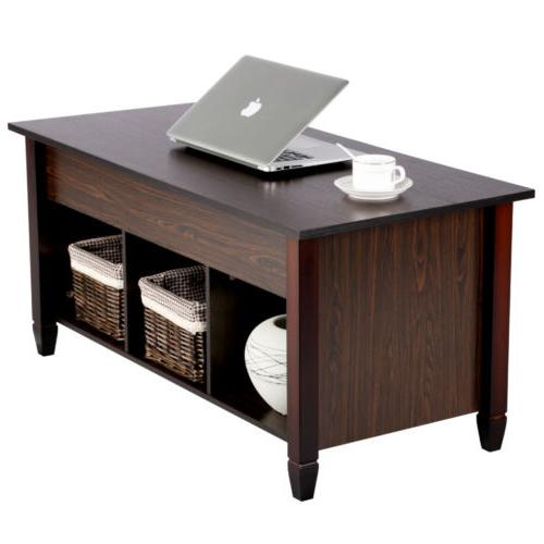 Lift Top Coffee Table w/3 Storage