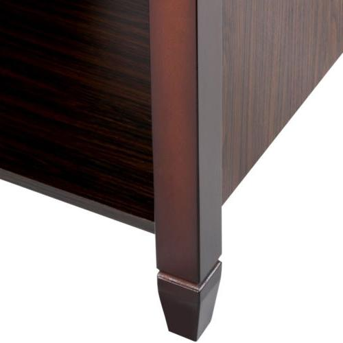 Lift Top Table w/3 Hidden Compartment Storage Shelf