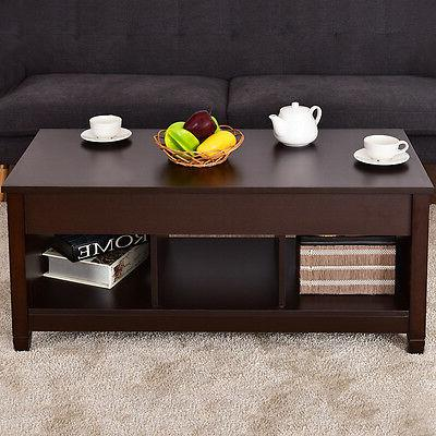 Lift Top Coffee Table w/ Hidden Storage Modern