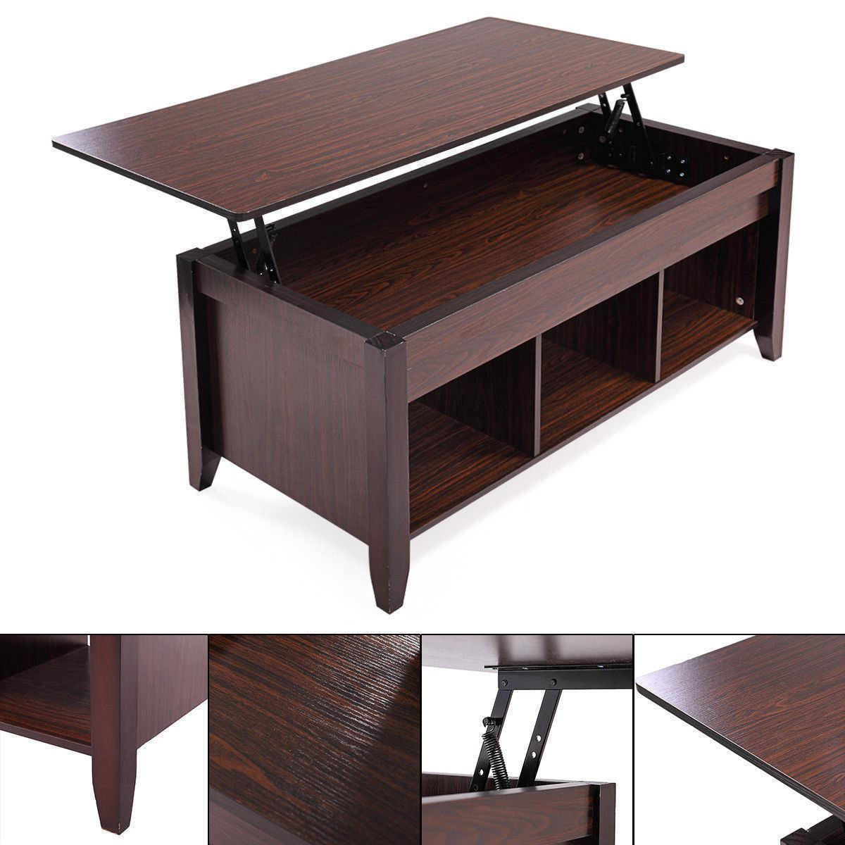 Lift Top Table w/ Shelf Living Furniture