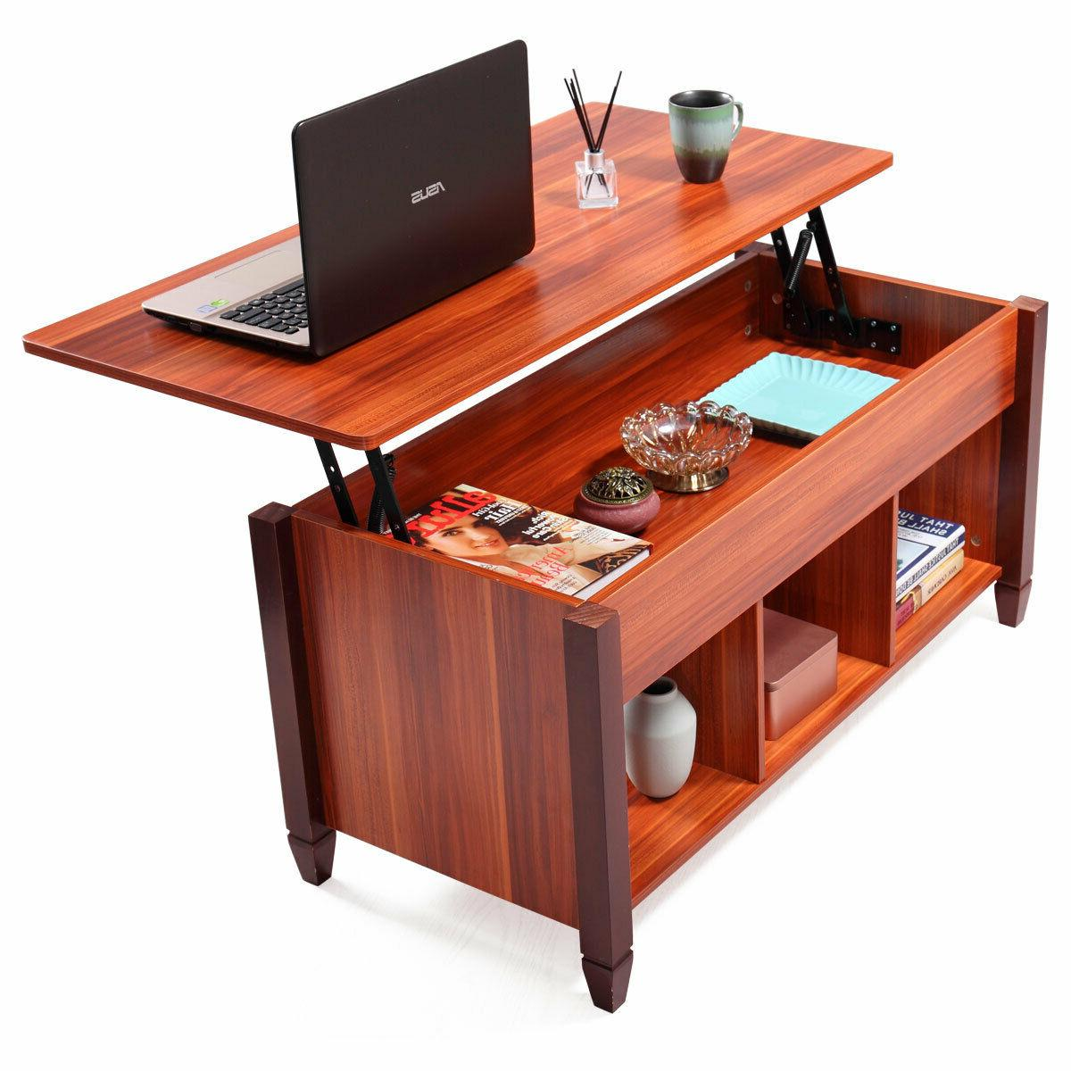 lift top coffee table wooden with hidden