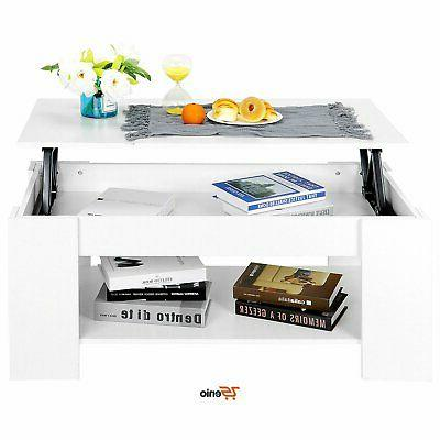 lift up top coffee table storage