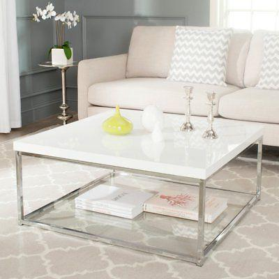 malone chrome high gloss coffee table