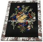 Marble Coffee Center Table Top Rare Floral Marquetry Inlaid