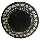 Marble Coffee Table Top Rare Mother of Pearl Inlaid Mosaic O