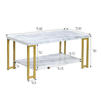 Marble Table 2-Tier Table Accent