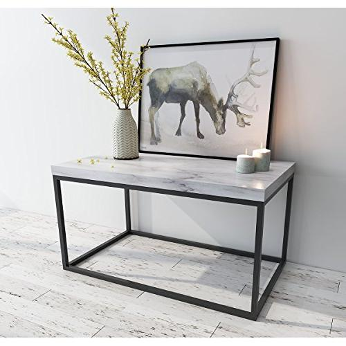 marble print coffee table living