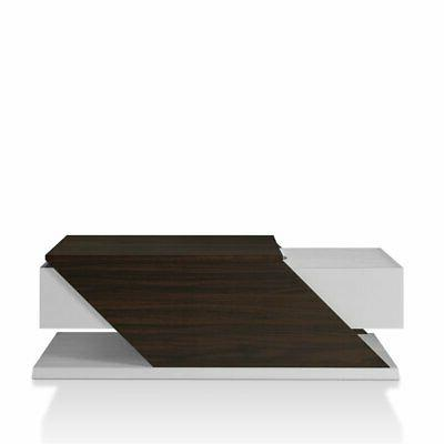 menster modern coffee table in white