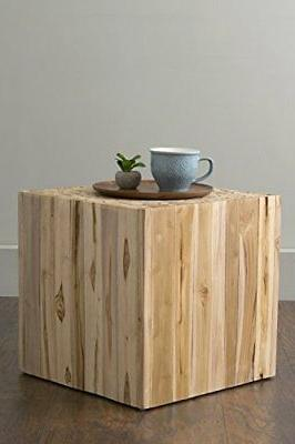 Brown Teakwood Square Accent Table,