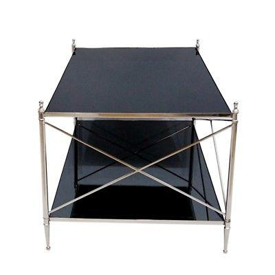 Beaumont Mirrored Table Nickel