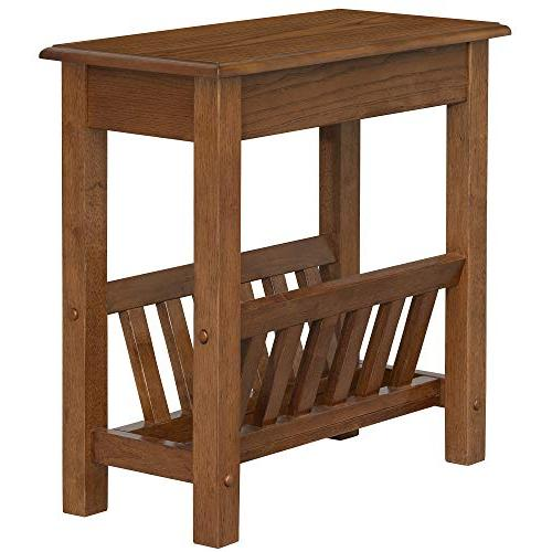 HOMCOM Modern 2-Tier Wood Table Desk with and Lower Dark Oak