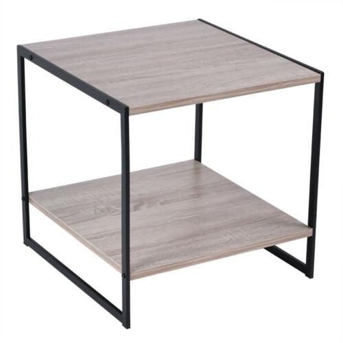 Modern Tier Table 20 Inch Side Night Table