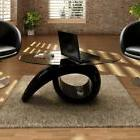 Modern Coffee Table Oval Glass Top Living Room Furniture Des