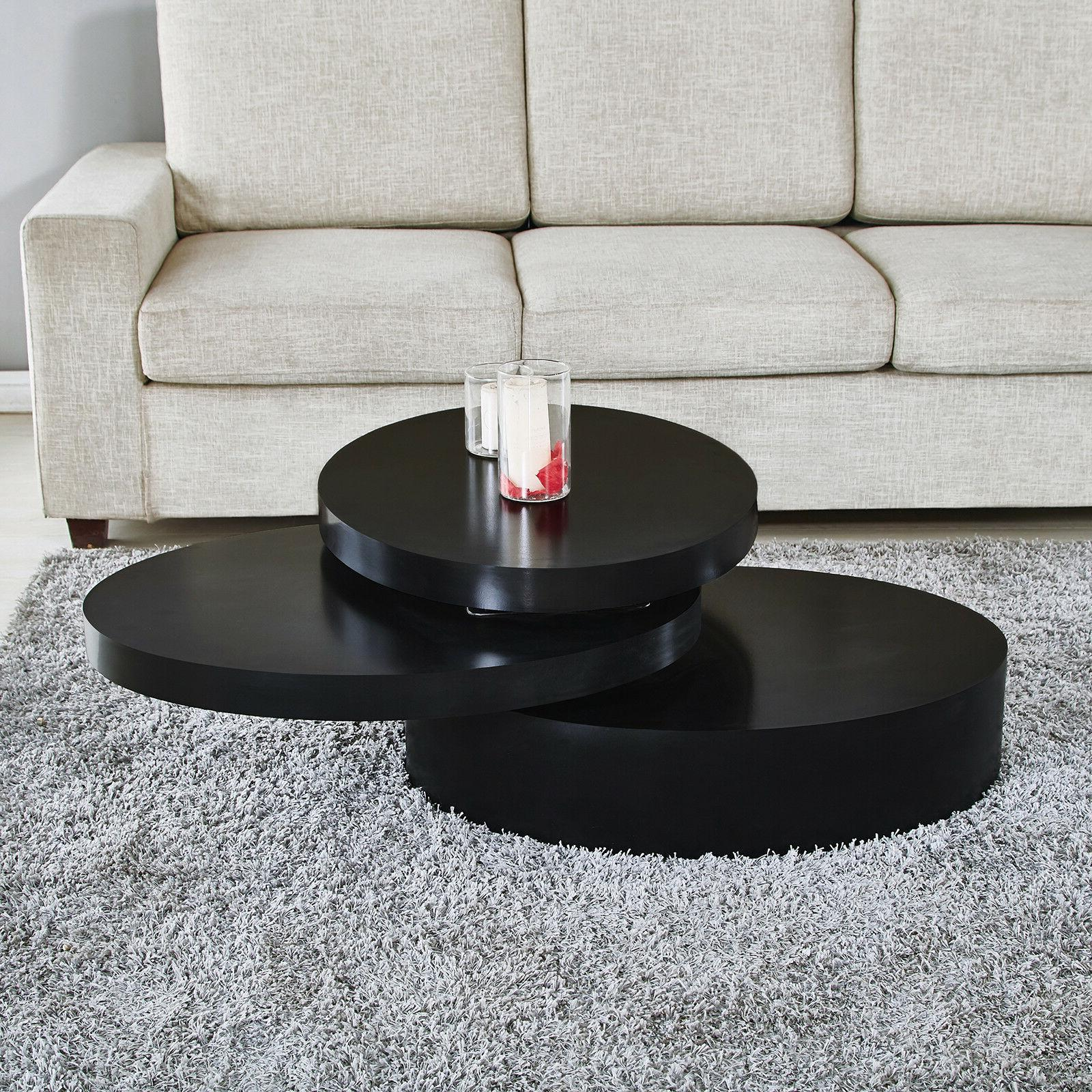 Modern End Table Rotating Layers Room