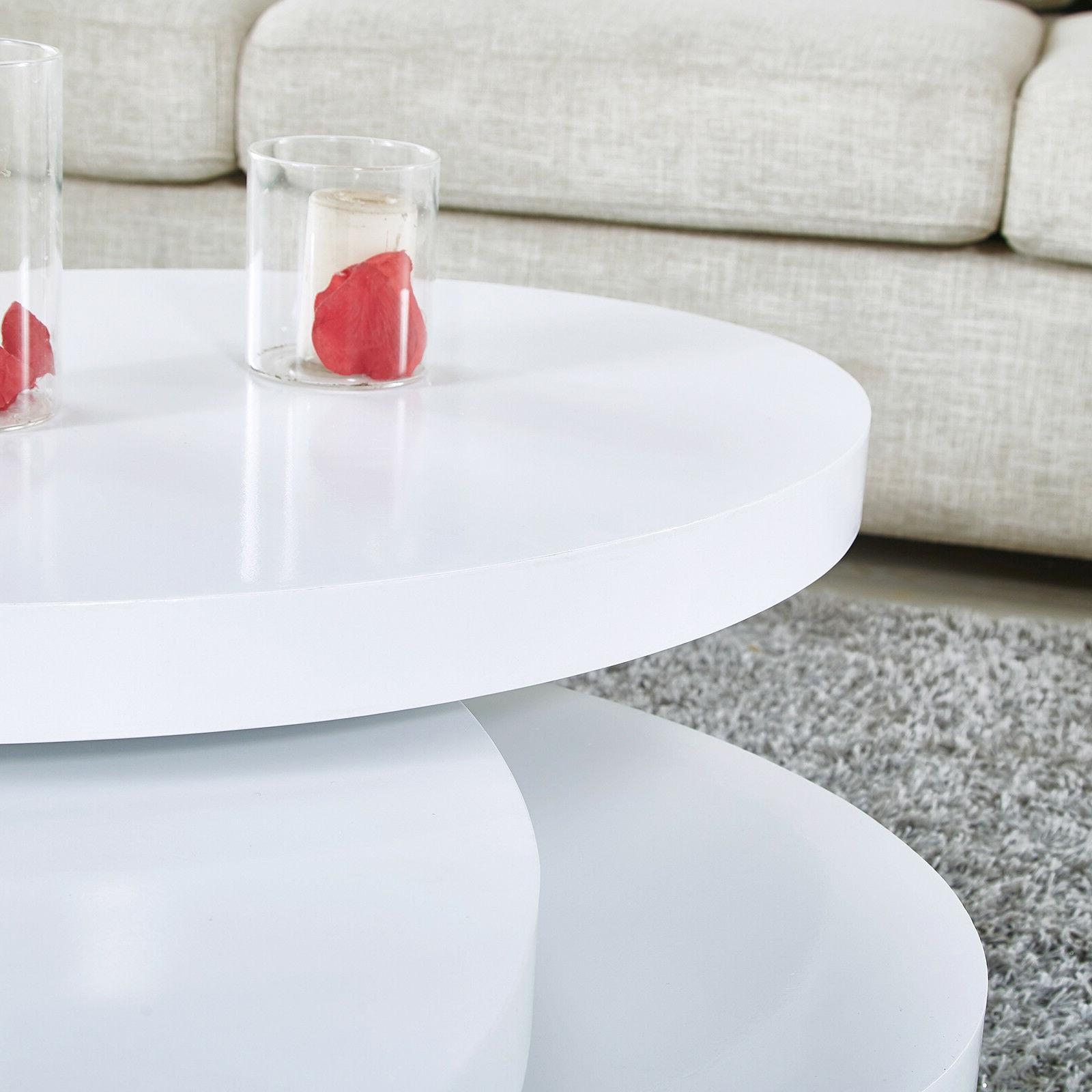 Modern Round Table Rotating Contemporary Room Furniture