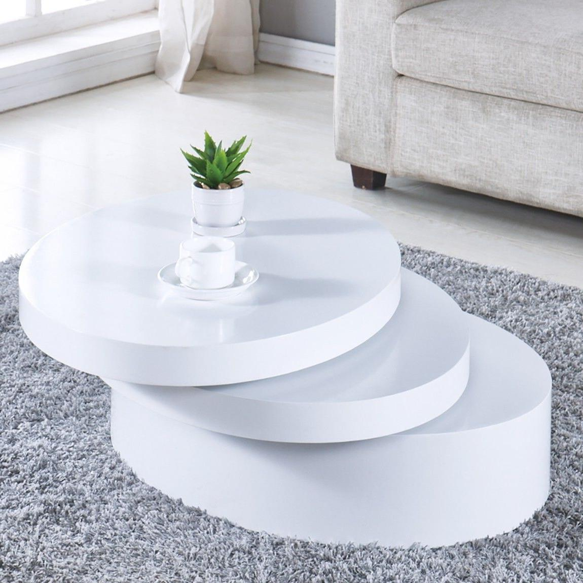 Modern Coffee Table Round Living Room Furniture