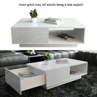 Modern High Coffee Table Control Living Decor