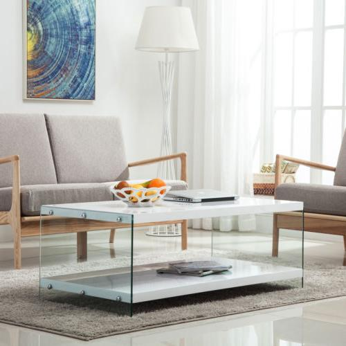 Modern High Coffee Table Space Living Tires