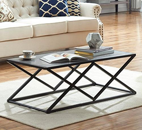 modern industrial cocktail coffee table