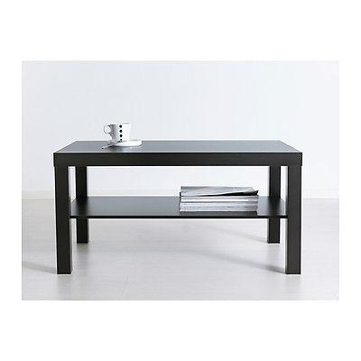 Modern Lack Side Coffee Table Brown TV Stand Laptop IKEA Room