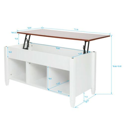 Modern Lift Top End Table Space Living Room Furniture