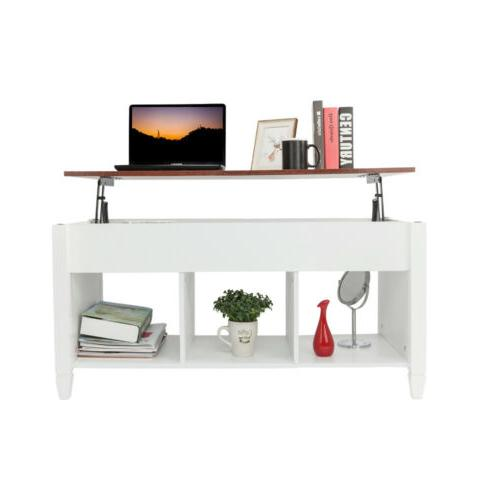 modern lift top coffee end table wood