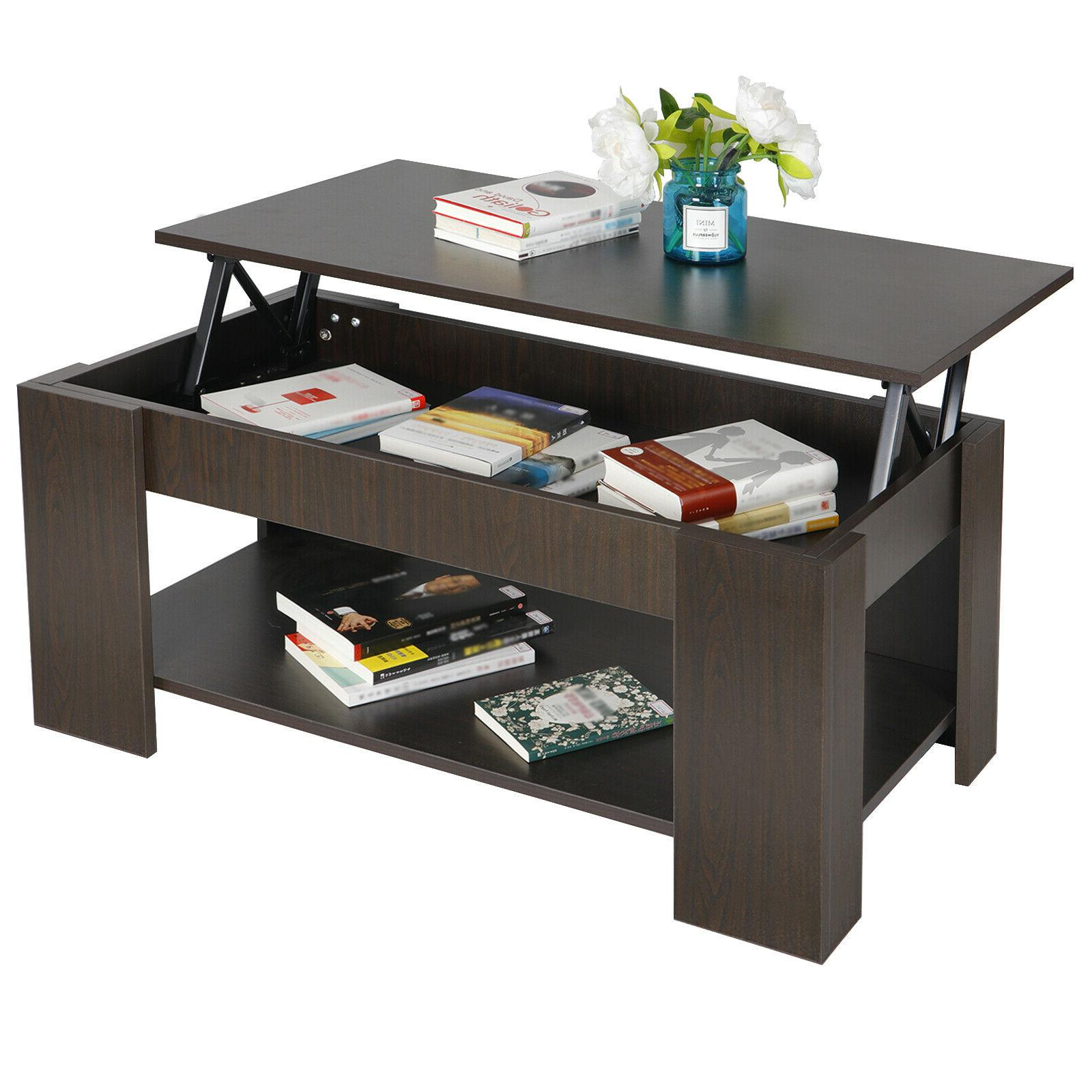 modern lift top coffee table with hidden