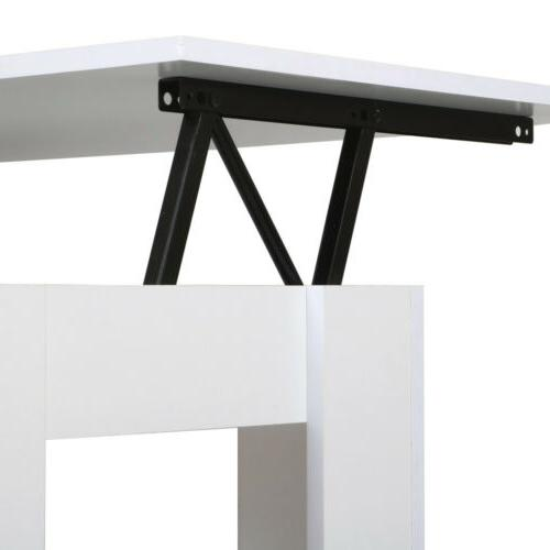 Modern Table Storage Compartment Living Room
