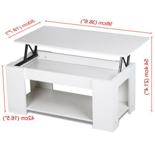 Modern Table with Storage Compartment Living Room