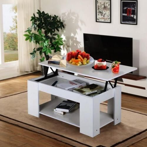 Modern Top Coffee Table Compartment