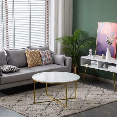 Modern Metal Table Home White New