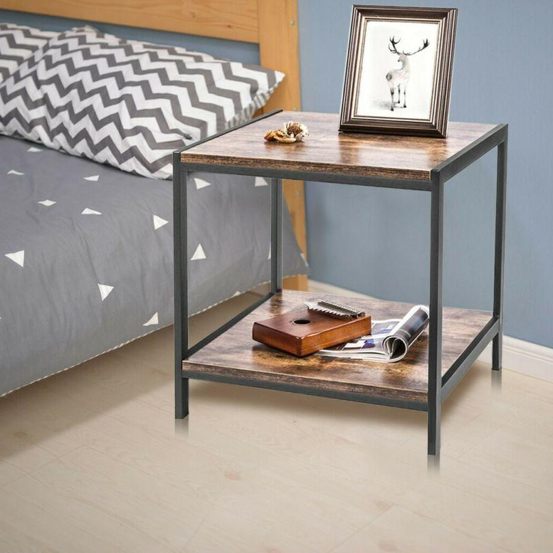 Coffee Table Rectangle Sofa Side End Table Storage Shelf Liv